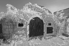 Outdoor wine cellar, Austria Stock Image