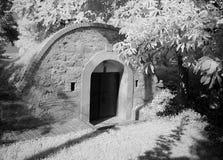 Outdoor wine cellar, Austria Stock Photos