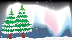 An outdoor winter landscape. Illustration royalty free illustration