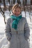 Outdoor wintry portrait Stock Photos