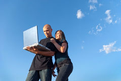 Outdoor wireless network Royalty Free Stock Image
