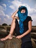Outdoor woman's portrait Stock Image