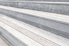 Outdoor wood stair pattern Royalty Free Stock Photo