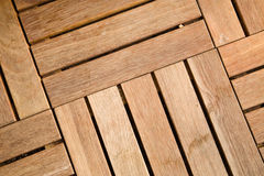 Outdoor wooden decking tile Royalty Free Stock Image