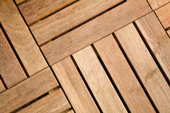 Outdoor wooden decking tile Stock Images