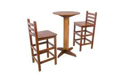 Outdoor wooden dining table with two stools stock photography