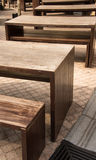 Outdoor Wooden Furniture Royalty Free Stock Photo