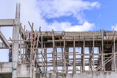 Outdoor worker in construction building.  stock photo