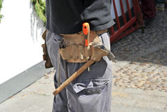 Outdoor worker with tool belt Stock Photography