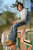 Outdoor working. Stock Photo