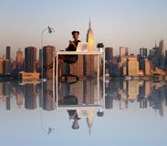 Outdoor Working New York City Strategy Concept Stock Image