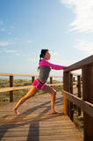 Outdoor workout royalty free stock images