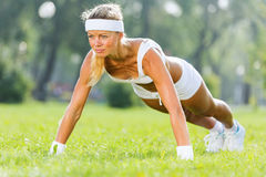 Outdoor workout Royalty Free Stock Photography