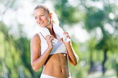 Outdoor workout Stock Photography