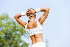 Outdoor workout Stock Image