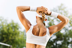 Outdoor workout Stock Images