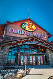 Outdoor World store sign entrance Stock Image