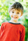 Outdoor 7 year old portrait Royalty Free Stock Photography