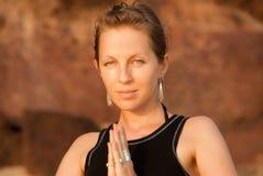 Outdoor yoga Stock Image