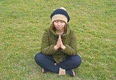 Outdoor yoga Stock Photos