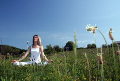 Outdoor yoga Stock Images