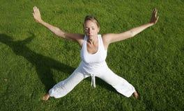 Outdoor Yoga Stock Photography
