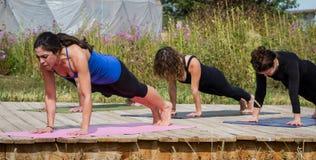 Outdoor yoga Royalty Free Stock Photo