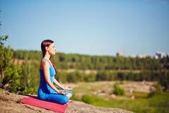 Outdoor yoga Royalty Free Stock Photos