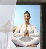 Outdoor yoga meditation Royalty Free Stock Photography