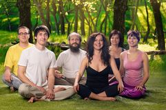 Outdoor Yoga People Meditation Royalty Free Stock Photo