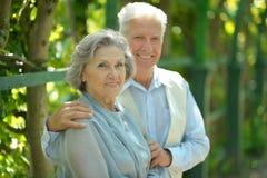 Outdoorr plus âgé de couples Photographie stock libre de droits