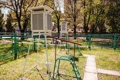 Outdoors метеорологической станции стоковое изображение
