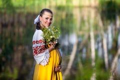 outdoors беременная женщина Стоковая Фотография