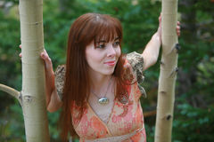 outdoors женщина Стоковые Изображения RF