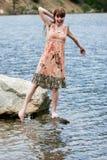 outdoors женщина Стоковые Фото