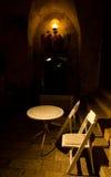 Outdoors кафе под сводом стоковое фото