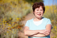 outdoors старшая женщина стоковое фото rf