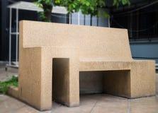 Outdoors стул камня песка сада Стоковые Изображения