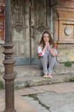 outdoors сь женщина Стоковая Фотография RF