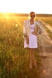 outdoors сь женщина Стоковое Изображение RF