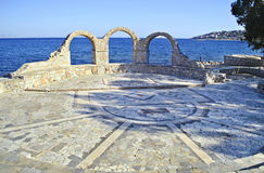 Outdoors театр на салями Греции стоковые изображения rf
