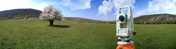 outdoors теодолит обзора Стоковое Изображение RF