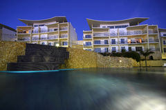 Outdoors. A modern and luxurious building - Lifestyle concept Stock Images