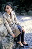 девушки подросток outdoors Стоковые Фотографии RF
