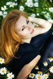Симпатичная женщина outdoors Стоковые Изображения