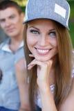Счастливые пары outdoors Стоковая Фотография