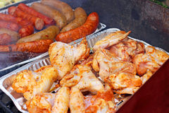 Outdoors Barbecue BBQ grill party Royalty Free Stock Photos