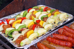 Outdoors Barbecue BBQ grill party Stock Photo