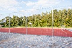 Mini football outside Royalty Free Stock Images