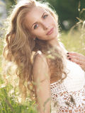 Outdoors blonde portrait Royalty Free Stock Photos